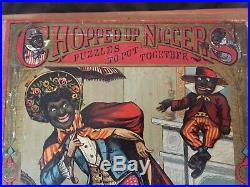 McLoughlin Bros Puzzle Chopped Up Niggers COMPLETE! Vintage Black Americana