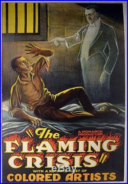 Movie Poster Flaming Crisis-Colored/Negro Cast-Monarch Films-1924-LKPX