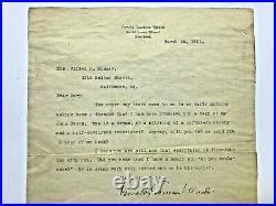 NAACP Co-Founder Oswald Garrison Villard 1911 Letter Abolitionist John Brown