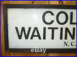 NASHVILLE, CHATTANOOGA & ST. LOUIS RAILROAD COLORED WAITING ROOM GLASS SIGN