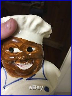 National Silver 1940s Black Chef Cookie Jar