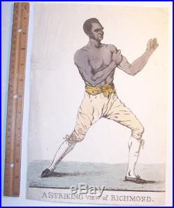 New York Slave Boxer Bill Richmond 1810 Antique Etching By Robert Dighton