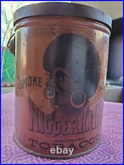 Nigger Hair Tobacco Tin Vintage Black Americana RARE