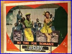 No Time for Romance Very Rare 1948 Window Card Display Eunice Wilson Bill Walker