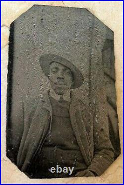 ORIGINAL AFRICAN AMERICAN FAMILY TINTYPE and PHOTO GROUP c1900 to 1920's