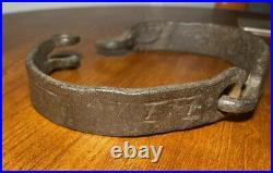 ORIGINAL Slave Collar Hand Forged Wrought Iron Black Americana Civil War 1800s
