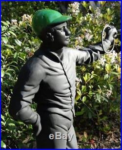 Old Lawn Jockey Statue equestrian horse lovers sculpture vintage custom paint
