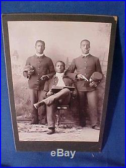Orig 1880s INDIAN WARS Era BLACK AMERICAN SOLDIERS 25th Infantry PHOTO w Weapons