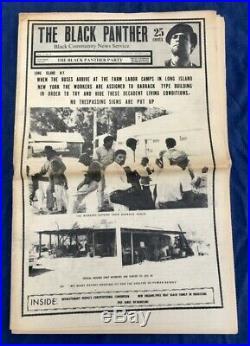 Orig Aug 1970 Black Panther Party Newspaper V5 #4 Huey Newton Bobby Seale Emory