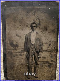 Original 1860s Tintype of African American Man