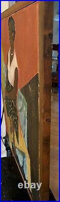 Original 1949 Signed Oil Painting Of A Black Woman Framed (ESTATE SALE ITEM)