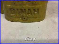 Original Antique Cast Iron Dinah Black Americana Working Mechanical Bank