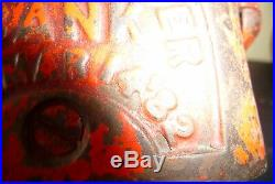 Original Antique Jolly Black Americana Cast Iron Bank Mechanical