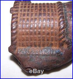 Original Antique-man On Bail Of Cotton-black Americana-uncommon Still Bank