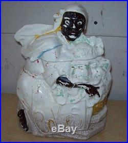 Original McCoy Mammy with Cauliflower Cookie Jar Black Memorabilia