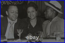 Original Photo Gene Ammons & Wife at New Deluxe Club in Chicago early 50s