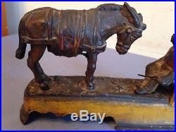Original Stevens Always Did Spise A Mule Cast Iron Bank Rare Black Americana