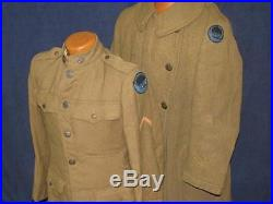 Original US WWI African-American Buffalo Soldiers Named Uniform Group 368th Reg