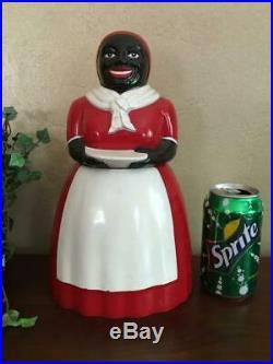 Original Vtg Black Americana Aunt Jemima COOKIE JAR F&F Mold & Die Works Plastic