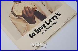 Original You Don't Have to Be Jewish Levy's Rye New York Subway Poster Mad Men