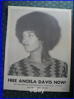 Original early 1970's Poster of ANGELA DAVIS Black Panthers Communist Party