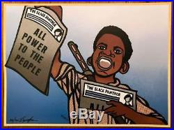 Paper Boy Black Panther Party Poster Signed Numbered By Emory Minister Of Art