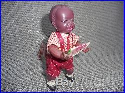 Poor Pete Celluloid Windup Toy Pre War Japan Black Americana Boy Dog Watermelon