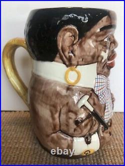 Porcelain German Beer Stein. Black Americana Collectible