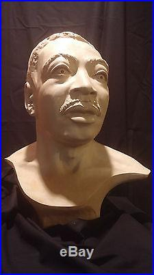 Portrait bust of PhD Martin Luther King Jr