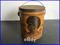 Pre-Bigger Hair Smoking Tobacco Tin Black Americana Biggerhair Can with Lid
