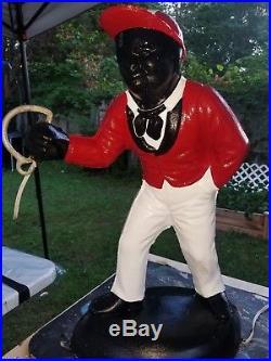 Preseason Sale Black Americano Red Lawn Jockey
