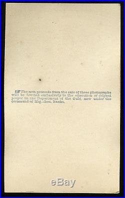 RARE 1863 BLACK WHITE SLAVE PHOTO CIVIL WAR ABOLITION PROPAGANDA SQUARE CORNERS