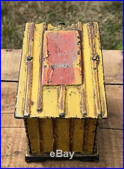 RARE 1885 J. E. Stevens Black Americana Cast Iron Mechanical Bank Slave Shack