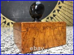 RARE 1920s Dunhill YZ Wood & Bakelite Black Man Pipe Smoking Tobacco Trinket Box
