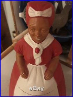 RARE 1950s Aunt Jemima Plastic Cookie Jar EXCELLENT