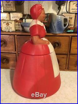 RARE AUNT JEMIMA Plastic COOKIE JAR 1950's