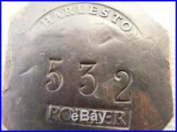 Rare Authentic Charleston Sc Slave Tag 1841 Porter Copper Token