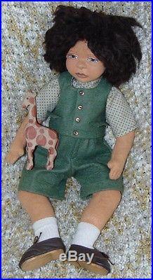RARE Artist Doll 1991 MAGGIE IACONO Limited DAVID 5/25 BOXED COA Black
