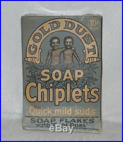 RARE Blue Box Gold Dust Twins Soap Chiplets, Black Americana Advertising