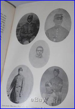 RARE CIVIL WAR Book HISTORY OF THE 54TH BRAVE BLACK REGIMENT Mass. ANTIQUE Maps