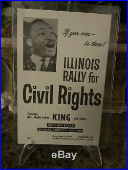 RARE Flyer Illinois Rally For Civil Rights, Martin Luther King Jr