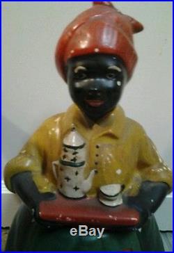 RARE LUZIANNE BLACK MAMMY COOKIE JAR MARKED USA