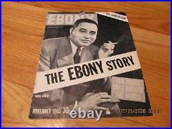 RARE NOVEMBER 1955 EBONY 10TH ANNIVERSARY MAGAZINE-Ralph Bunche EBONY STORY