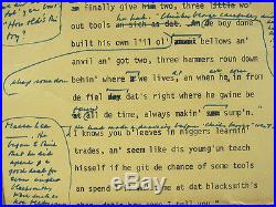RARE ORIGINAL Roots Early Draft Manuscript Page Hand Annotated By Alex Haley yqz