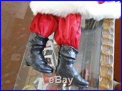 RARE RETIRED Daddy's Long leg Santa doll 2006 WithTOYBAG COLLECTIBLE KAREN GERMANY