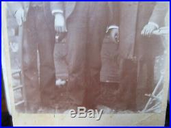 RARE Studio Cabinet Photo, 3 African American Men, Teachers, 1880, Mississippi
