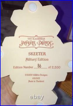 RARE Thomas Blackshear SKEETER MILITARY L. E. Figurine 31002 Jamboree Parade NEW