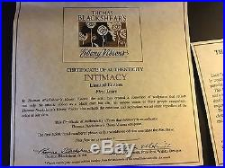 RARE Thomas Blackshears Wood Base Intimacy First Issue Signed #40 out of 4500