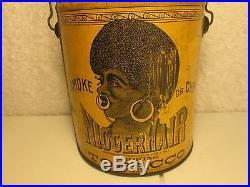 RARE VERSION AFRICAN AMERICAN NGGER HAIR TOBACCO TIN 1878 AWESOME FREE SHIP $69