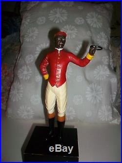 RARE VINTAGE PAIR JOCKEY STATUES BLACK AMERICANA EQUESTRIAN